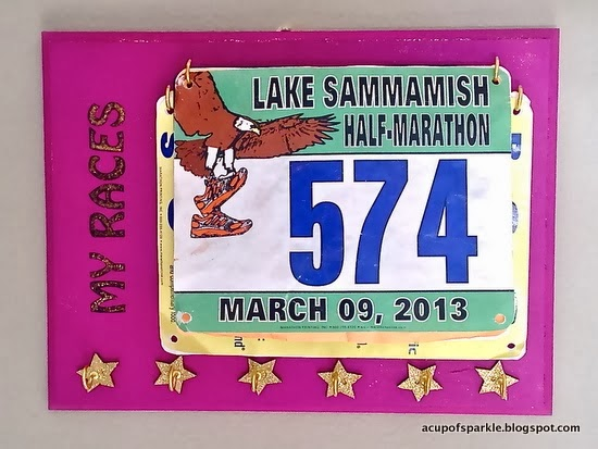 http://acupofsparkle.blogspot.com/2014/01/handmade-race-bib-and-medal-holder.html