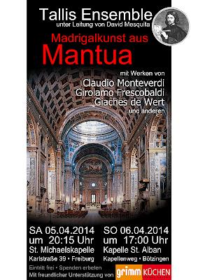 """Flyer """"Magrigalkunst aus Mantua"""""""
