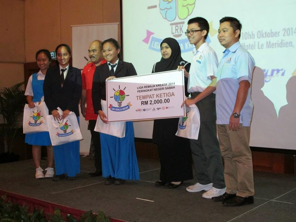 SMK St Michael Tempat Ketiga Liga Remaja Kreatif Zon Sabah 2014