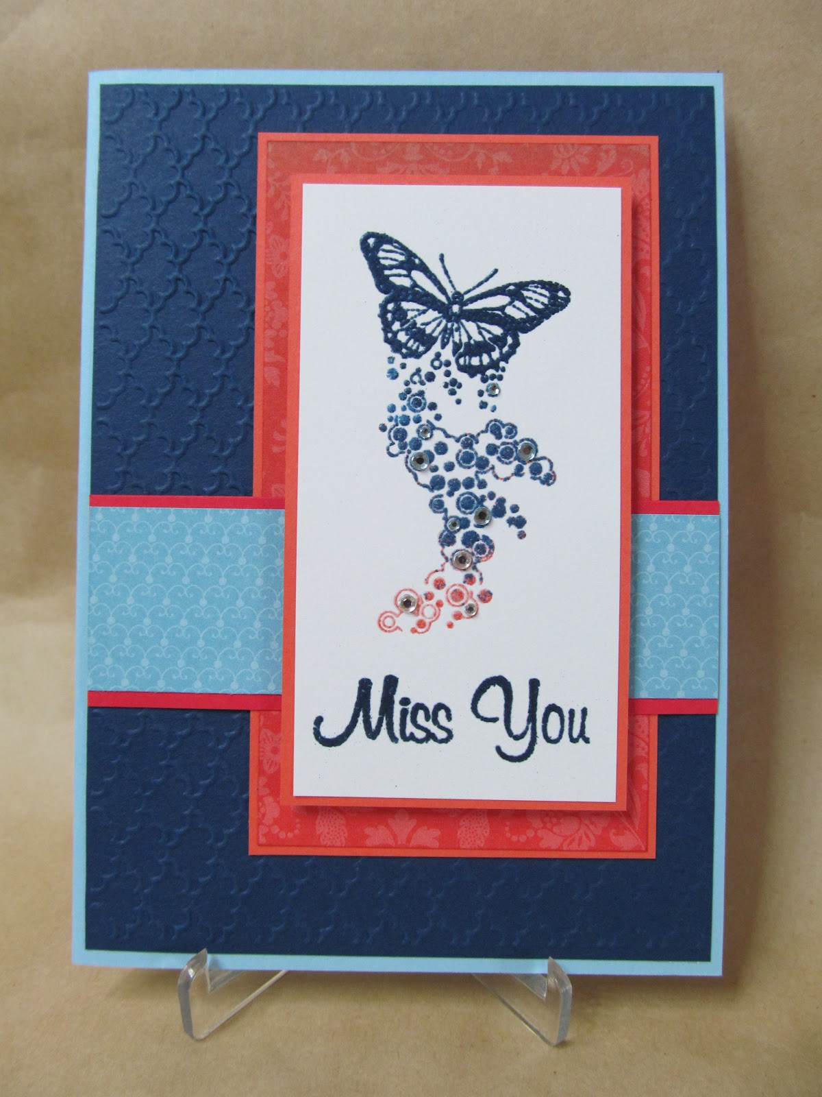 Savvy Handmade Cards Miss You Card
