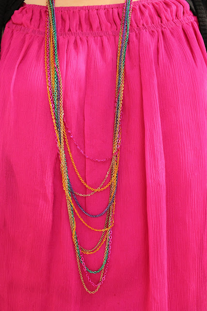 Forever 21 Multi Color Chain Necklace
