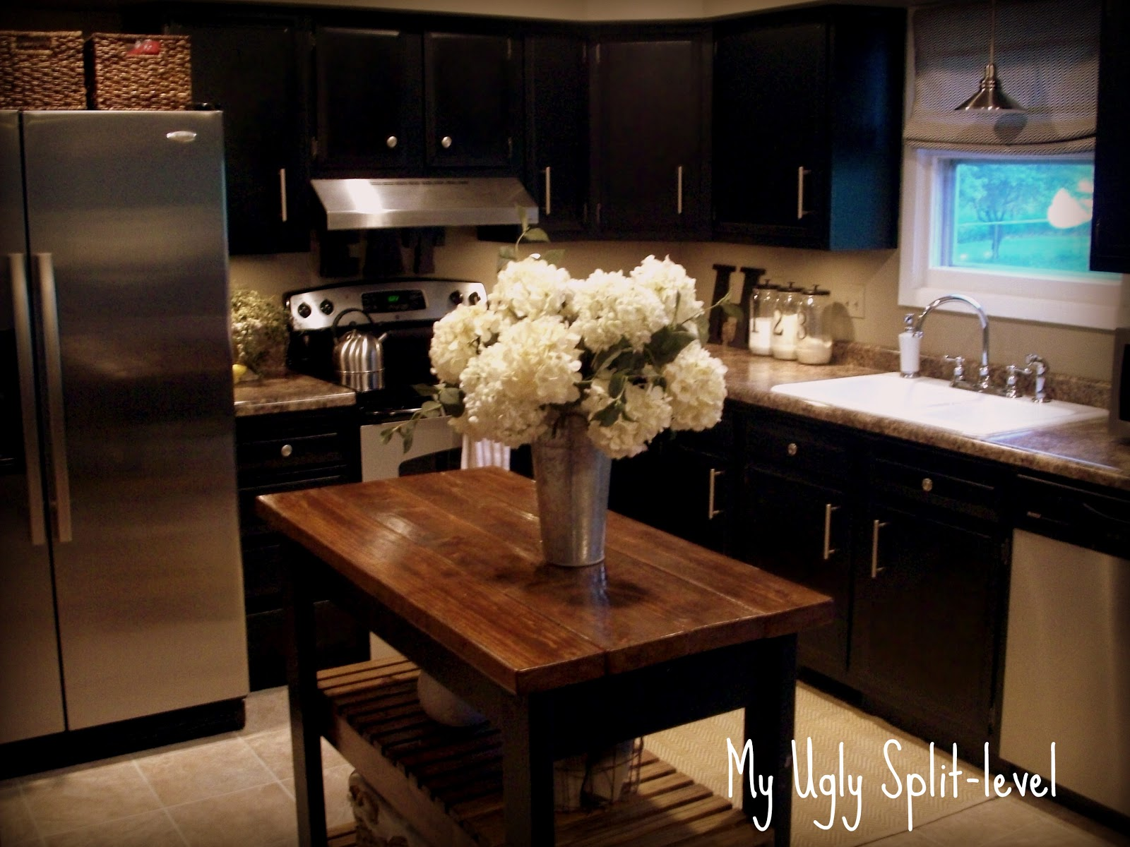 my ugly split level the kitchen