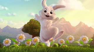 Funny Rabbit Cartoon Wallpaper