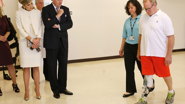 King Willem-Alexander and Queen Maxima of The Netherlands visits Rehabilitation Institute Chicago in Chicago. United States