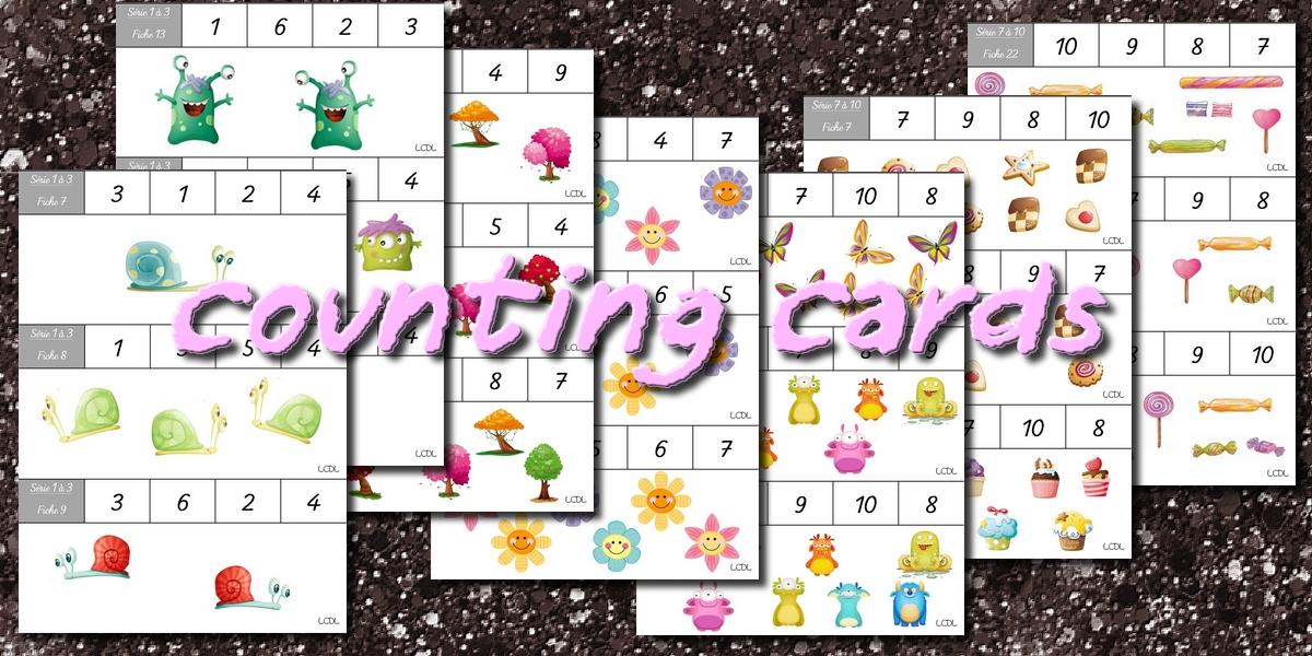 Connu La maternelle de Laurène: Counting cards - cartes à compter IO06
