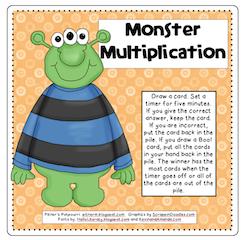 Pitner's Potpourri: Monster Multiplication -- Freebie!