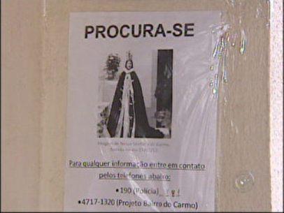 Fiéis fazem campanha pra resgatar imagem de santa desaparecida