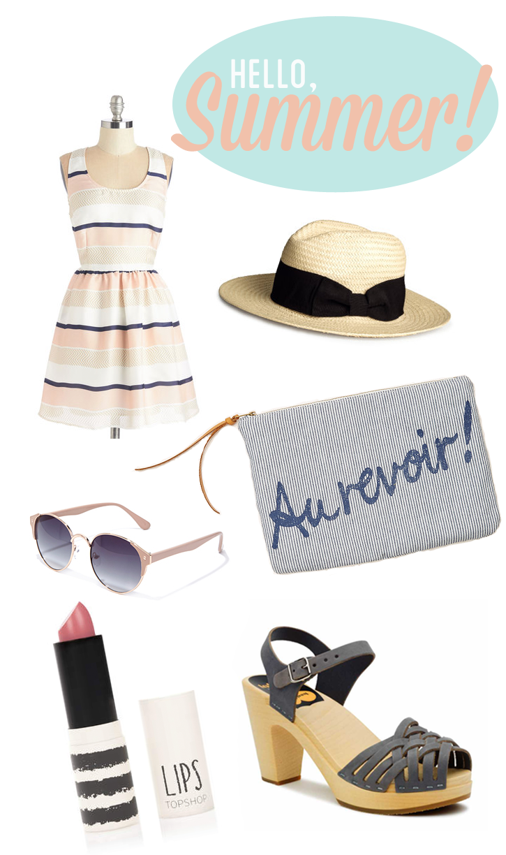 summer outfit collage