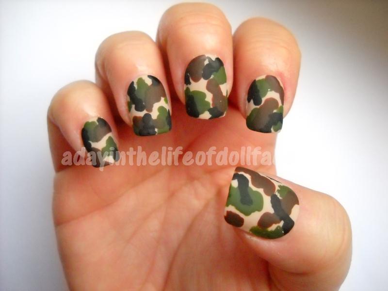 Camo Nails Camo Nail Art Tutorial