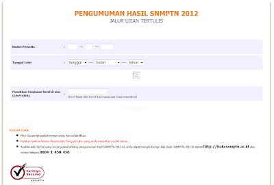 Situs Resmi Pengumuman SNMPTN 2012 Jalur Tulis
