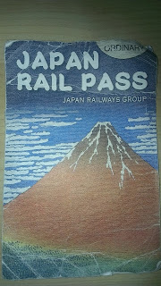 Photo of the new Japan rail pass (Front)