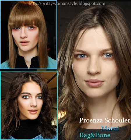 Средно дълга коса есен-зима 2013