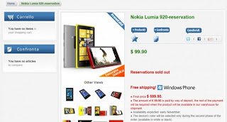 Nokia Lumia 920 pre-orders