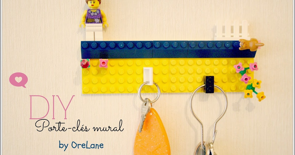 orelane diy un porte cl mural original avec des lego. Black Bedroom Furniture Sets. Home Design Ideas