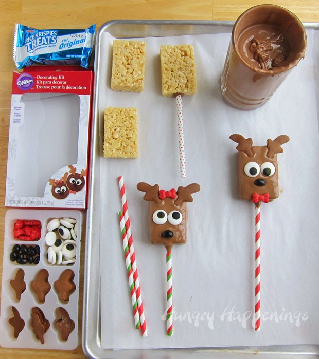 Dip one end of a lollipop stick or paper straw into the chocolate ...