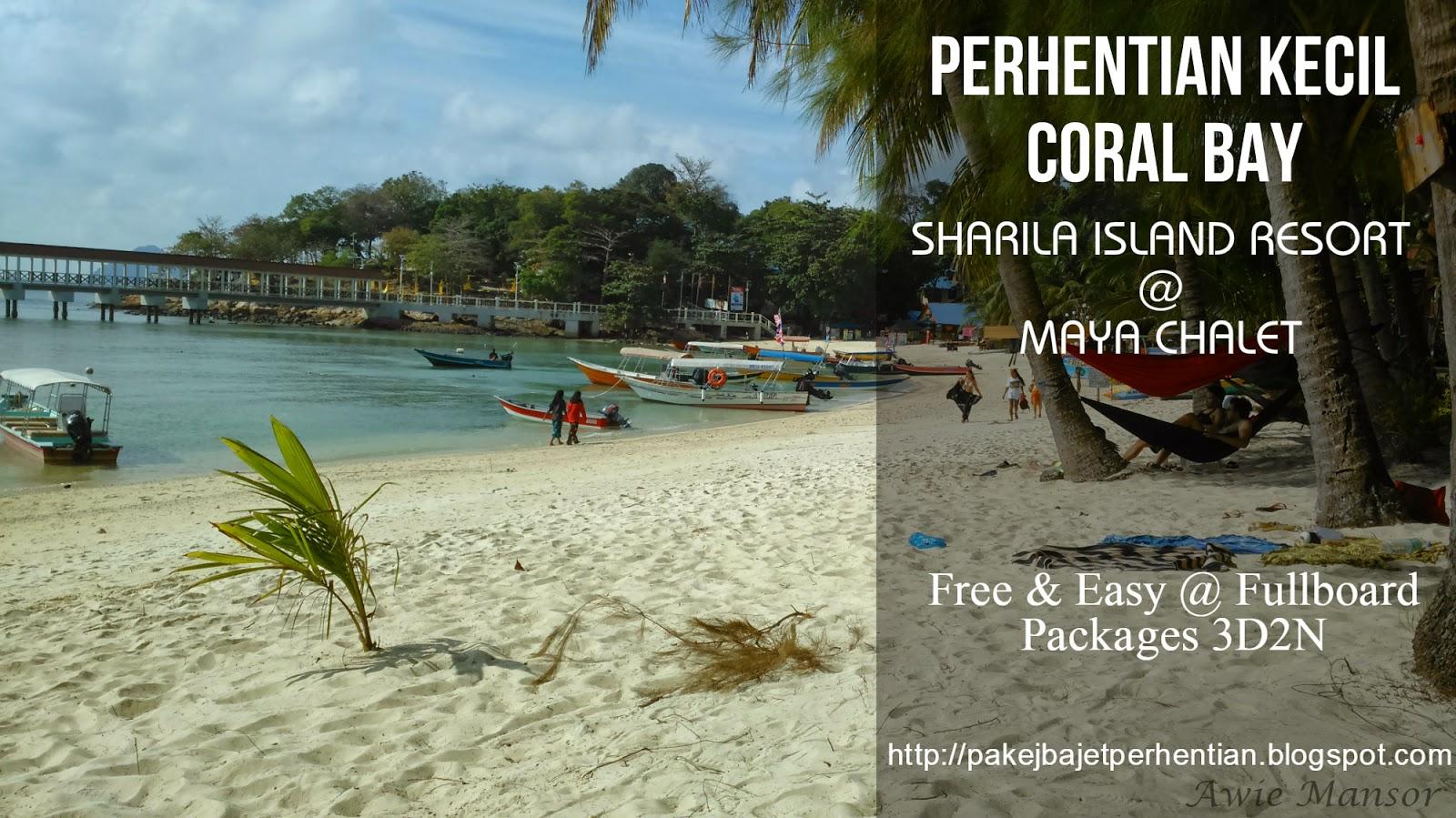 coral bay perhentian kecil pakej bajet pulau perhentian mieha holidays