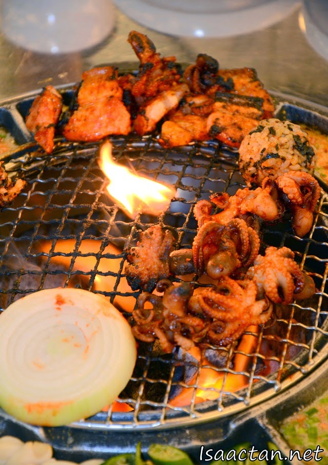 Grilled baby octopus and so much more at Sae Ma Eul Korean (새마을 BBQ) Restaurant @ PV128 Setapak