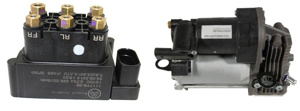 Válvulas y unidad de compresión AIRmatic