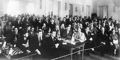 Olimpiada de Ajedrez Varsovia 1935, sala del Casino de Oficiales de Varsovia