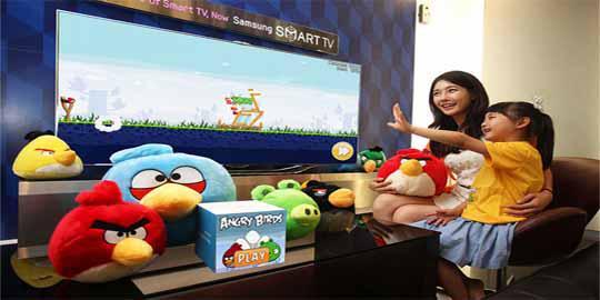 Baru !! Main Angry Birds Dengan Sensor Gerak di Samsung Smart TV