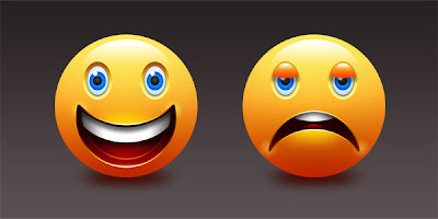 Happy & Sad Emoticons (PSD)