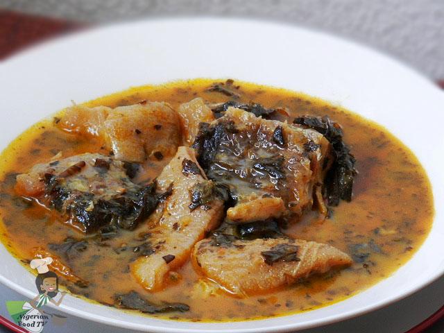 Nigerian Bitterleaf Soup, Bitter leaf Soup ,Ofe Onugbu