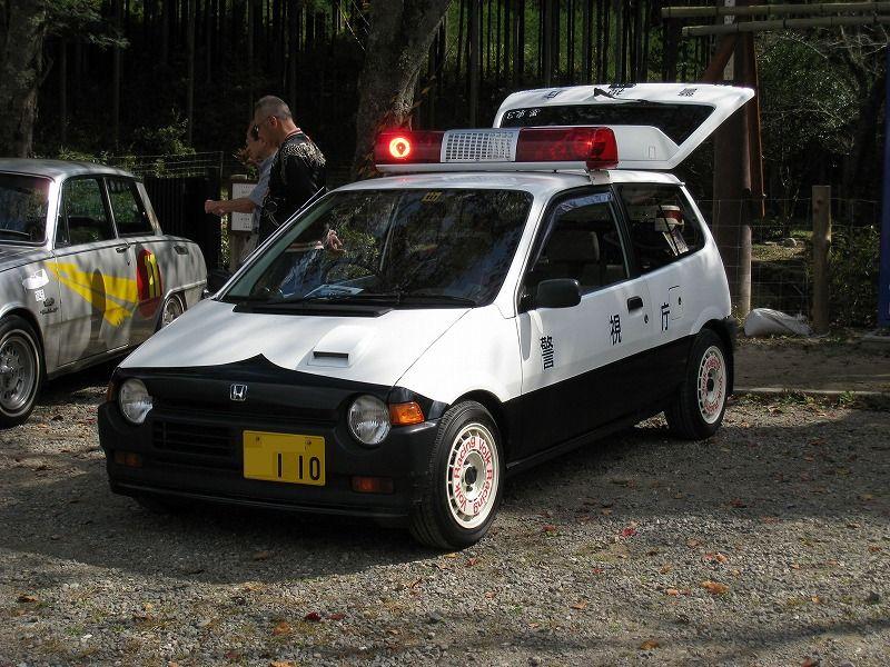 Honda City, JDM, policyjny samochód