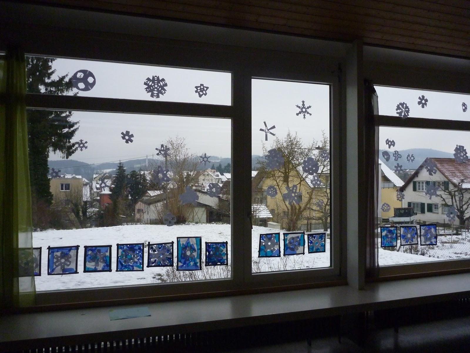 M rlimuus fensterdeko winter 2016 schneiden und kleben for Fensterdeko winter