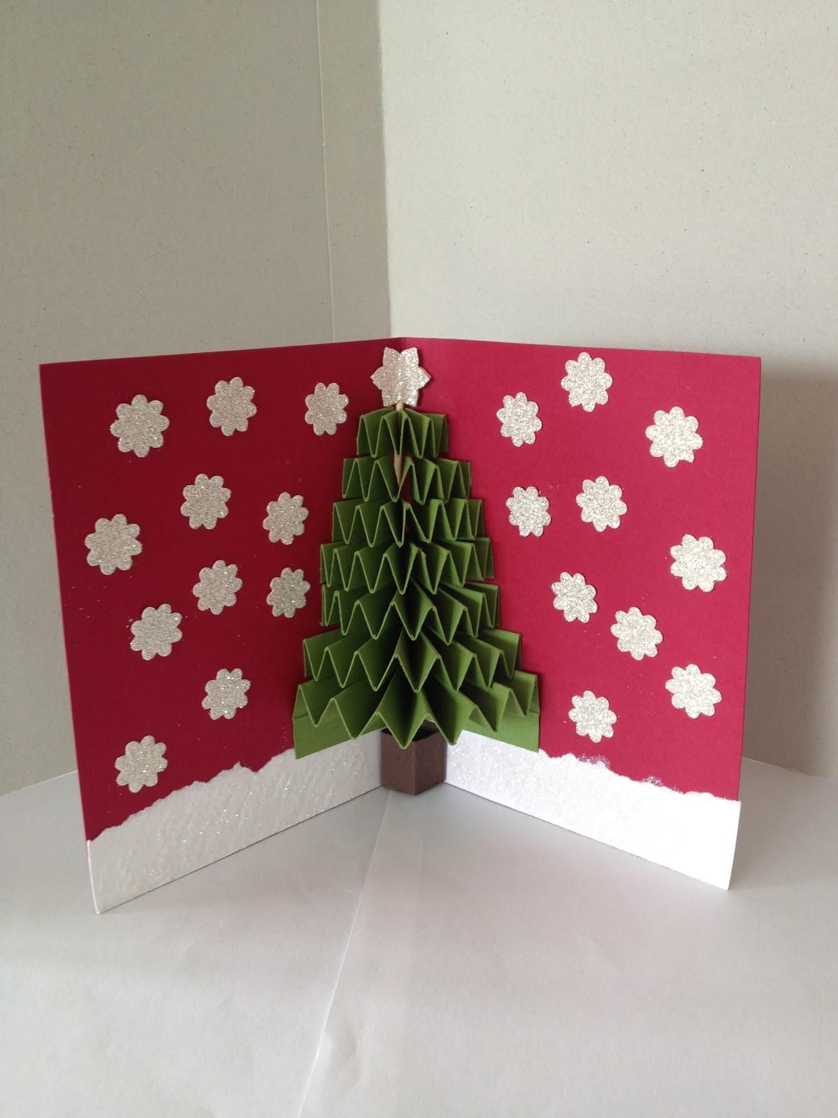 Handmade Christmas Card Making Ideas Part - 36: Christmas+Tree+Card+Inner+2. 99923685451899641_AGzCrIwy_c. Craft-ideas- Christmas-card-tree