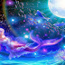 Mermaid moon fantasy widescreen hd wallpaper