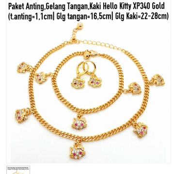Aksesoris: Paket Set Perhiasan Hello Kitty (AHG-397)
