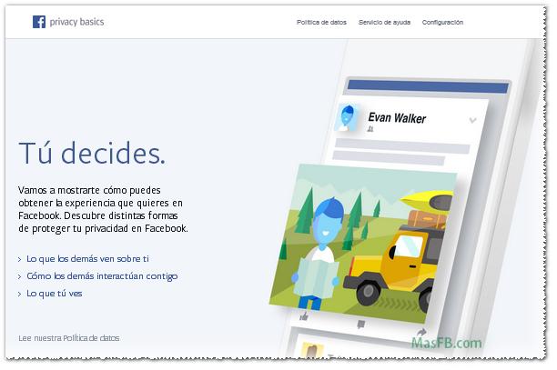 Tu decides en Facebook - MasFB