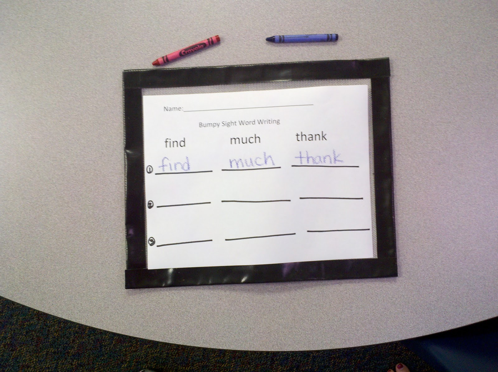 Special Education Writing Worksheets