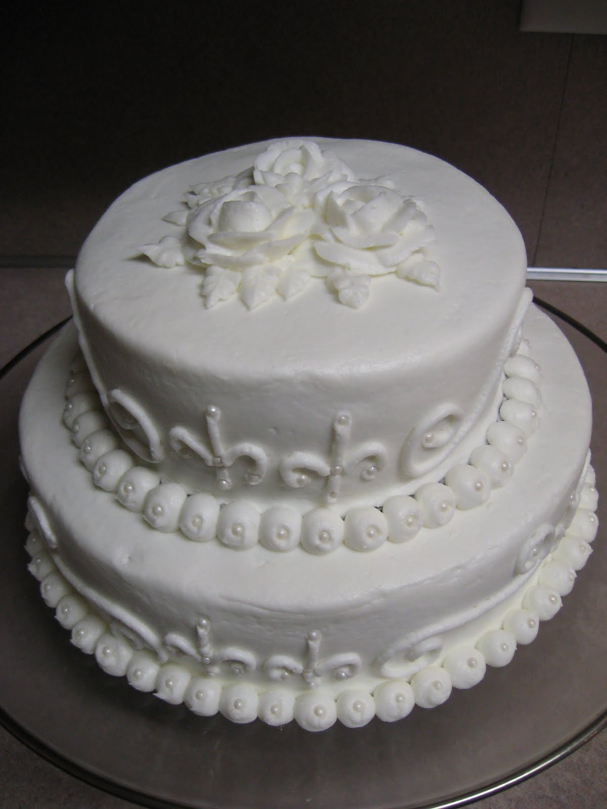 Delectable Sweets by the Smiths Simple Wedding Cake