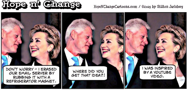 obama, obama jokes, political, humor, cartoon, conservative, hope n' change, hope and change, stilton jarlsberg, hillary, email, server, classified