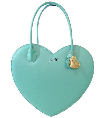Kawaii Milk Mint Heart Shaped Handbag