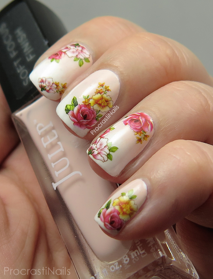 Dreamy Romantic Gradient Nail Art with Floral Water Decals from Born ...