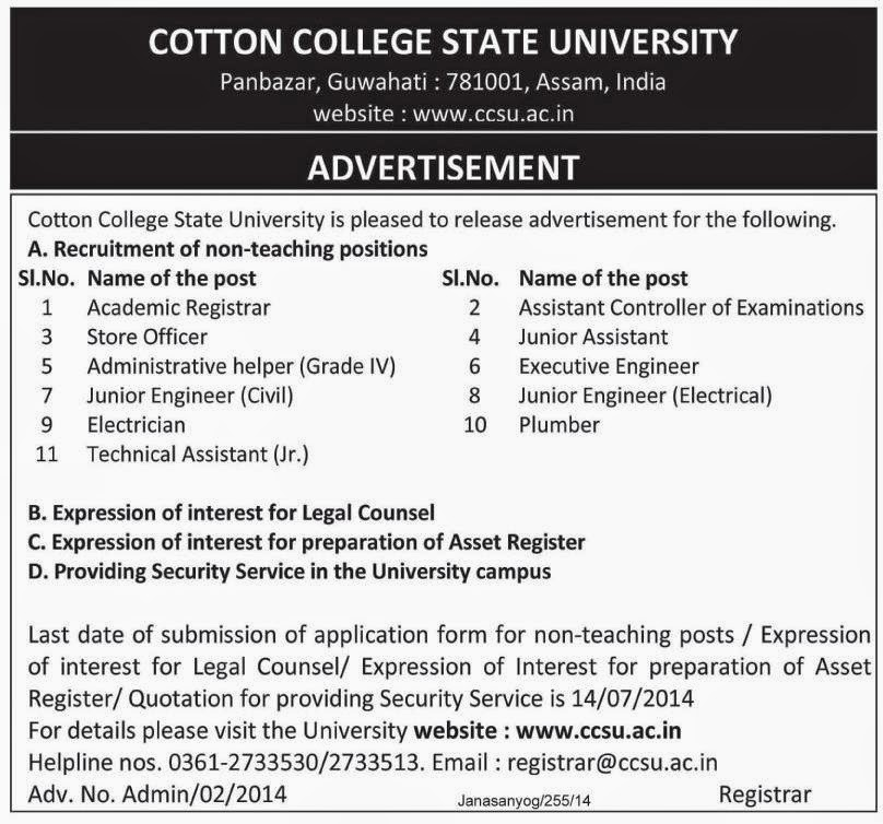 Online Government Jobs Academic Registrar Assistant Controller Of
