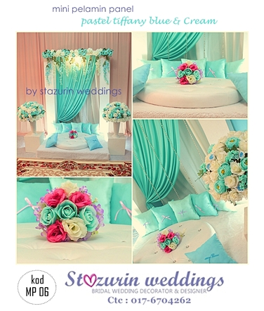 Pelamin+mini+warna+tiffany+blue+pelamin+tunang+eksklusif+2013+tiffany