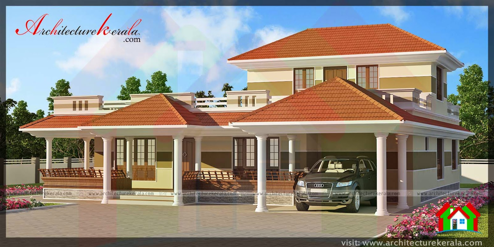 Kerala house plans with verandahs for Kerala traditional home plans with photos