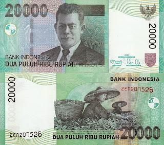 Pecahan 20000 Rupiah tahun 2004