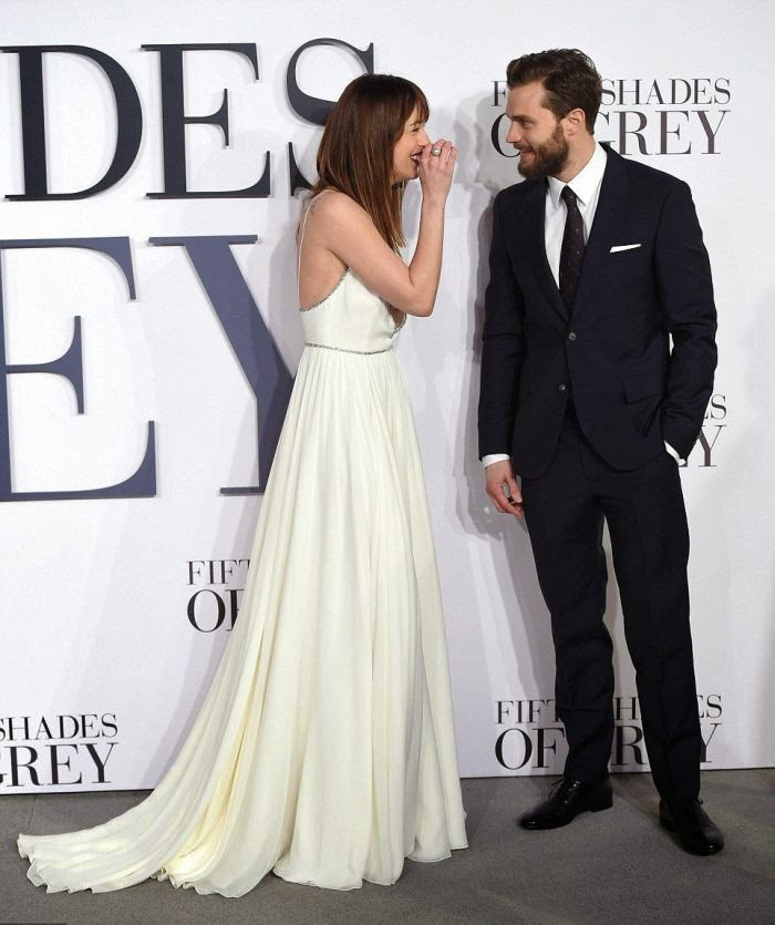Dakota Johnson stepped so gracefully with co-star, Jamie Dornan at the premiere of movie in London on Thursday, February 12, 2015.