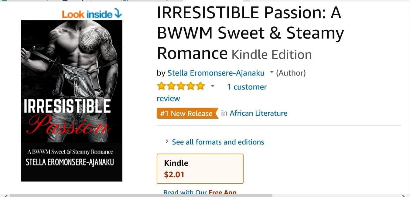IRRESISTIBLE Passion was Amazon #1 Bestselling New Release!!!