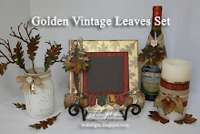 Golden Vintage Leaves Set