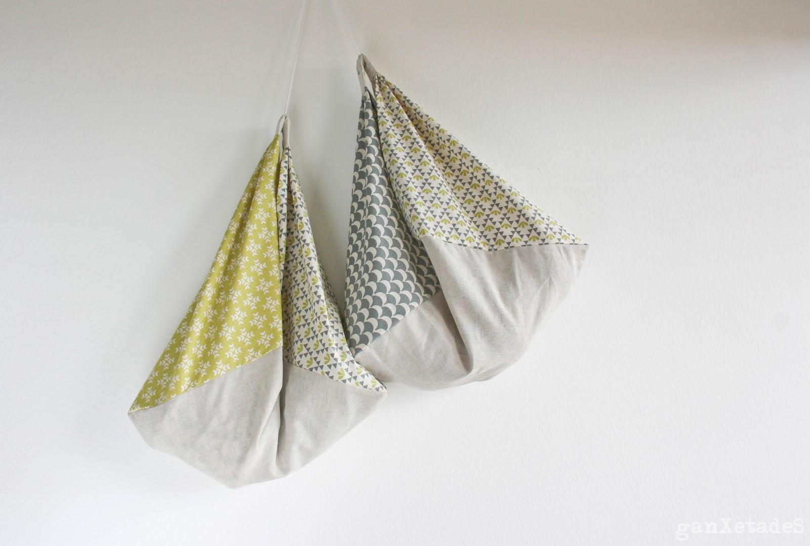 ganxetades origami bag o copiant a lua