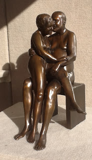 Bronze sculpture of two figures by Marianne Hornbuckle