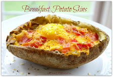 Breakfast Potato Skins ~ Bacon Egg &amp; Cheese