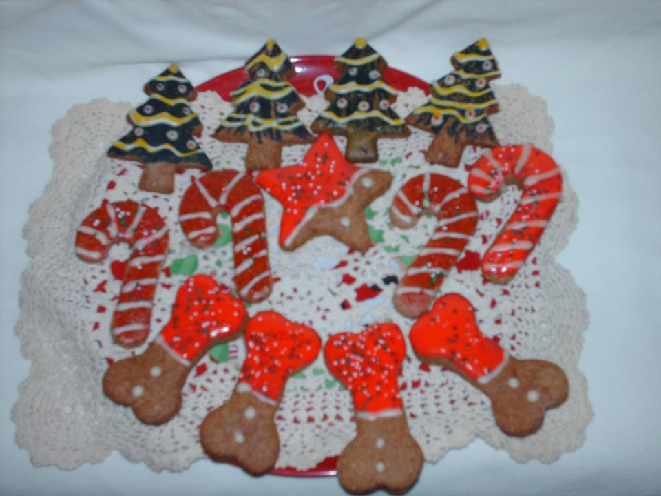dog Christmas cookies