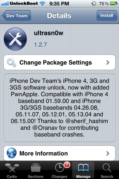 Ultrasn0w 1.2.7 Fix baseband 05.13.04 No Signal