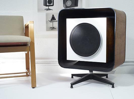 The fabulous Quadraflex - Eames designed stereo speakers: